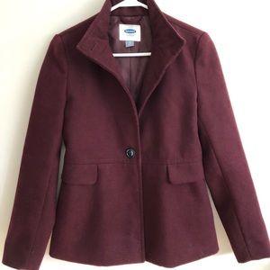 Maroon/Burgundy XS Pea Coat Jacket